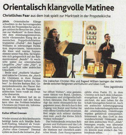 Rita William Aachener Zeitung